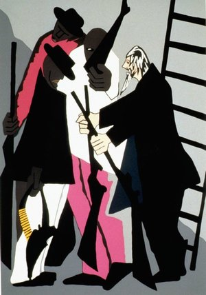 John Brown hands out the weapons by Jacob Lawrence