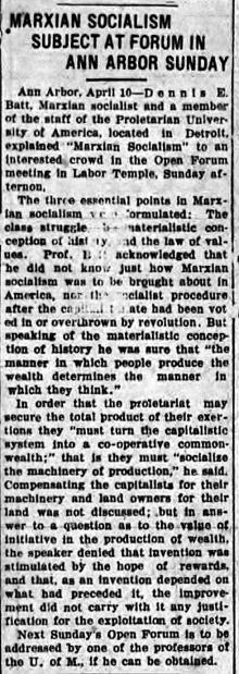 April, 19, 1920. Ypsilanti Daily Press.