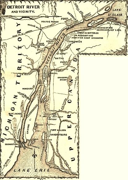 Detroit area, 1812