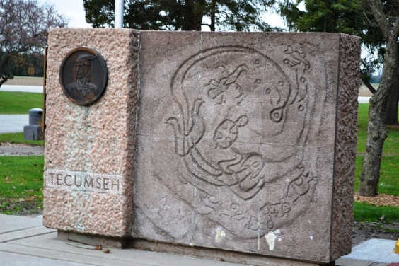 Tecumseh monument at Battle of Thames, Canada.