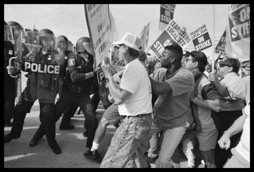 Detroit Newspaper strike. Mid-1990s.