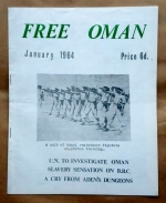 """'Free Oman', published and edited by F. Glubb, London, 1964. Photo caption reads """"A unit of Omani resistance fighters on pistol training""""."""
