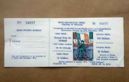 Official Irish Republican Movement fundraising effort, 1972.