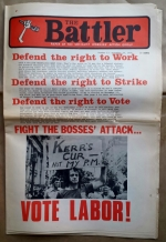 'The Battler', Socialist Workers Action Group, Australia, 1975.