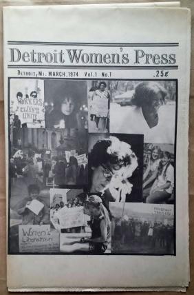 'Detroit Women's Press', Detroit, 1974. First issue.