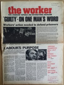 'The Worker - For A Workers' Republic And International Socialism', Socialist Workers Movement, Dublin, 1973.