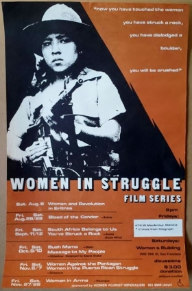 'Women In Struggle Film Series', Women Against Imperialism, Oakland and San Francisco, [late 1970's].