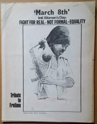 'Black Graphics International', Detroit, 1974. International Women's Day tribute to Frelimo