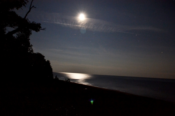 Midnight over Lake Michigan